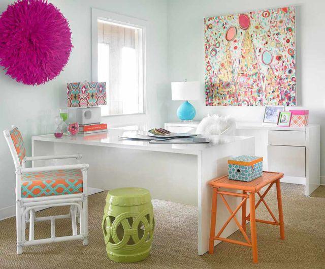 Cantiknya penggunaan dekorasi dan wall art pada ruang kerja