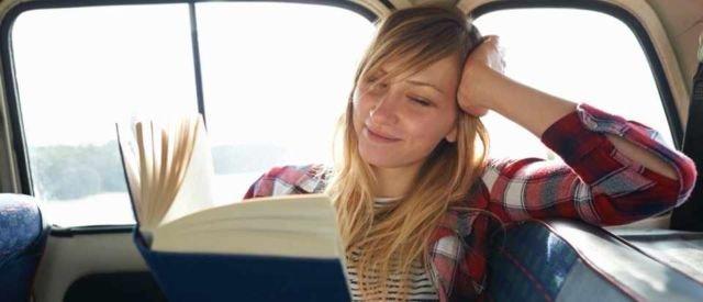 reading at car