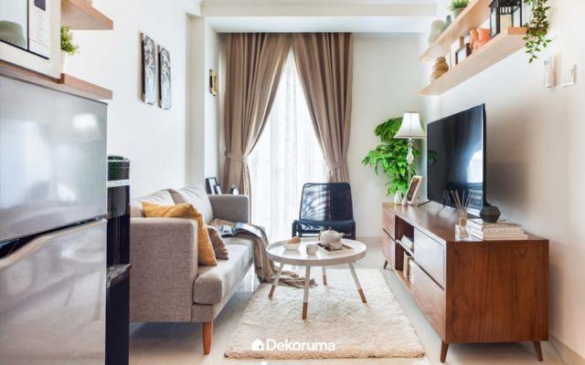 Ruang Keluarga Modern dengan Sentuhan Natural