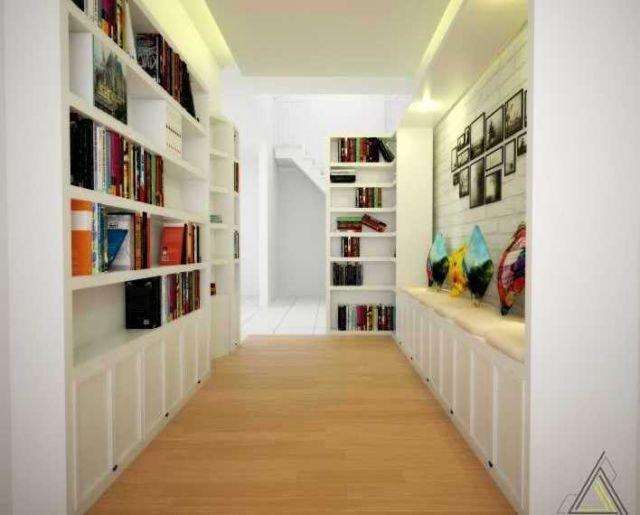 Perpustakaan mini di lorong rumah, proyek La Vintage oleh Dap Studio