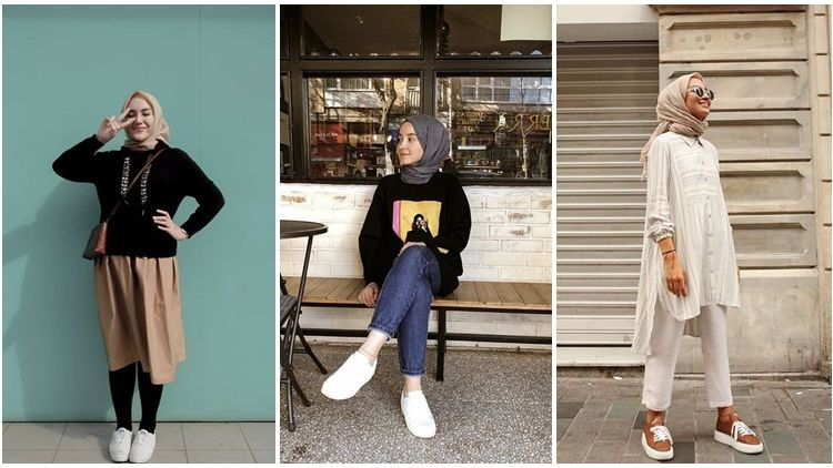 Hijabers dengan Sneakers
