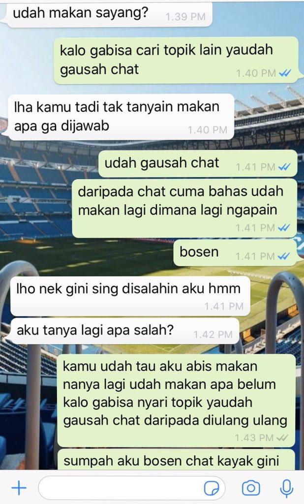 kasus marah ke pacar cuma karena chat