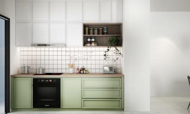 Kitchen Set Tanpa Gagang Pembuka Pintu
