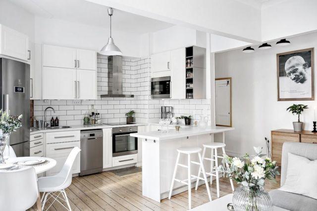 Dapur Serba Putih di Sudut Ruang