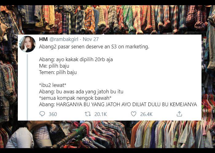15 Rayuan Maut Penjual Baju Di Pasar Demi Gaet Calon Pembeli Beneran S 3 Marketing Harvard Nih