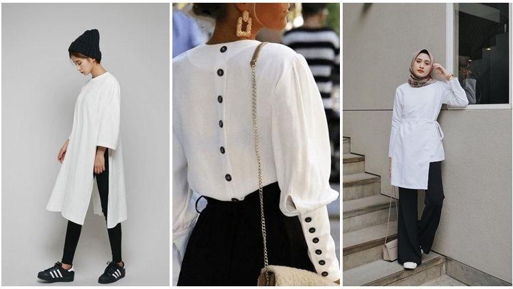 8 Desain Baju Putih Terbaru Dan Dijamin Nggak Pasaran Beli Bahan Dan Jahit Sendiri Yuk