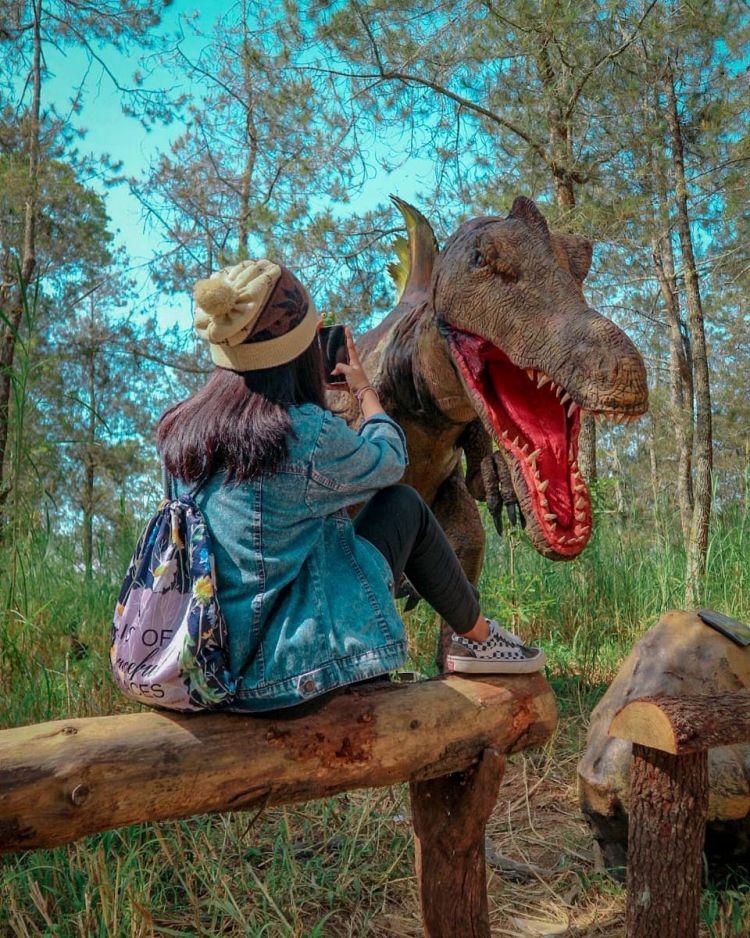 Serunya Bertemu Dinosaurus Di Mojosemi Forest Park