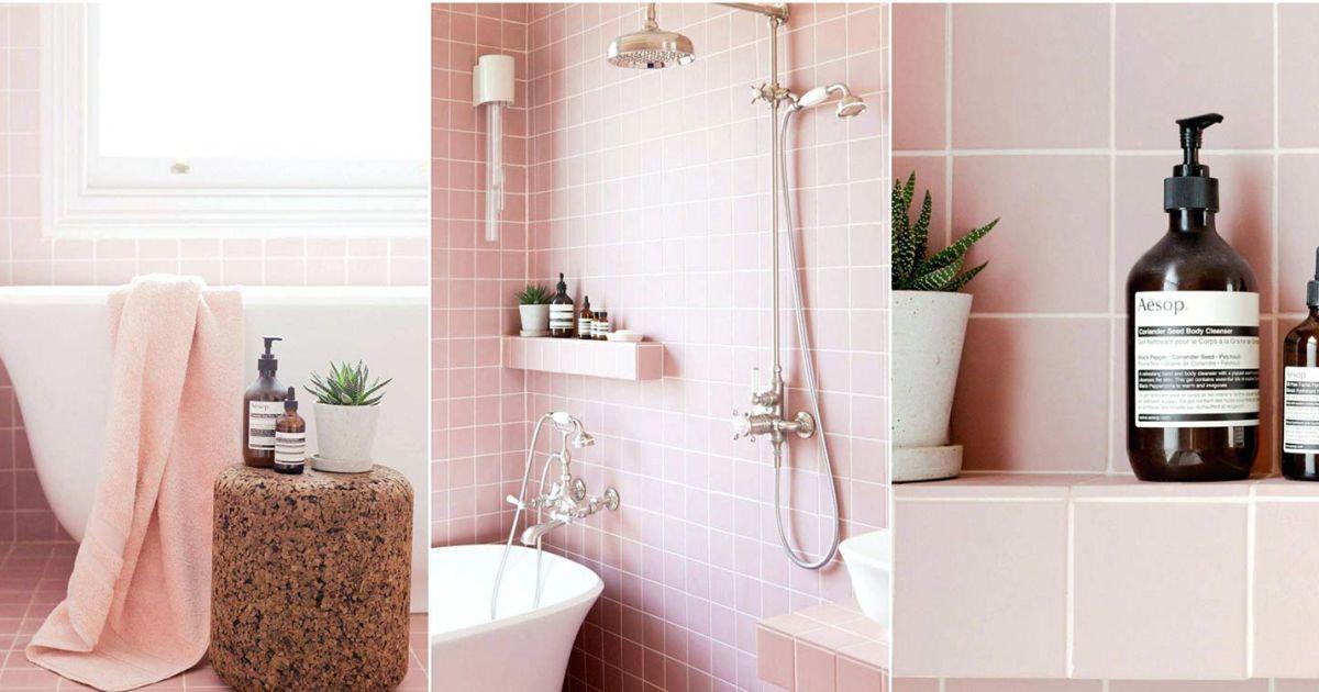 5 Inspirasi Kamar Mandi Warna Pink Yang Cantik Serasa Mandi Di Negeri Dongeng Deh
