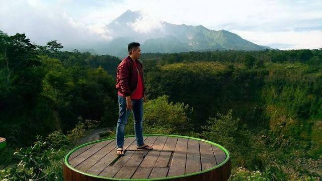 Pas banget yang mau lihat pemandangan pagi Merapi