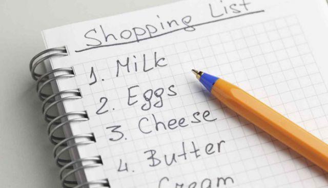 making-shopping-list