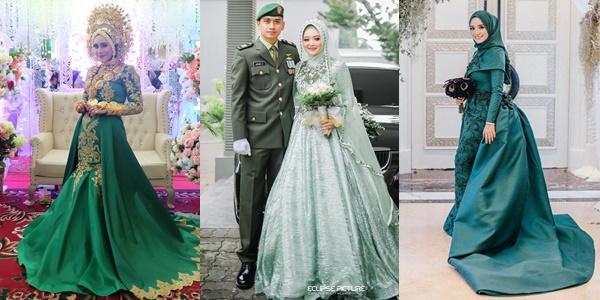 10 Inspirasi Busana Pernikahan Nuansa Hijau Adat Maupun Internasional Tetap Memukau