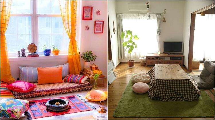 10 Contoh Konsep Lesehan Untuk Ruang Tamu Ukuran 3 X 4 Meter Sofanya Nggak Harus Ada Kakinya