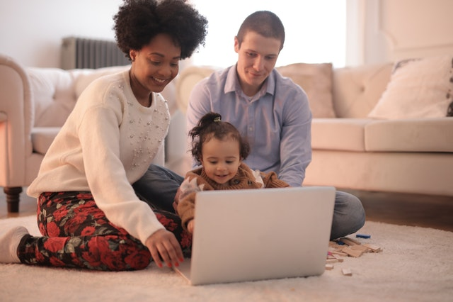 Laptop and Family