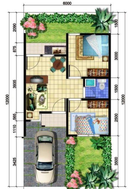 9 Desain Rumah Type 36 Yang Cocok Untuk Pasutri Anyar Bisa Dibikin 2 Kamar