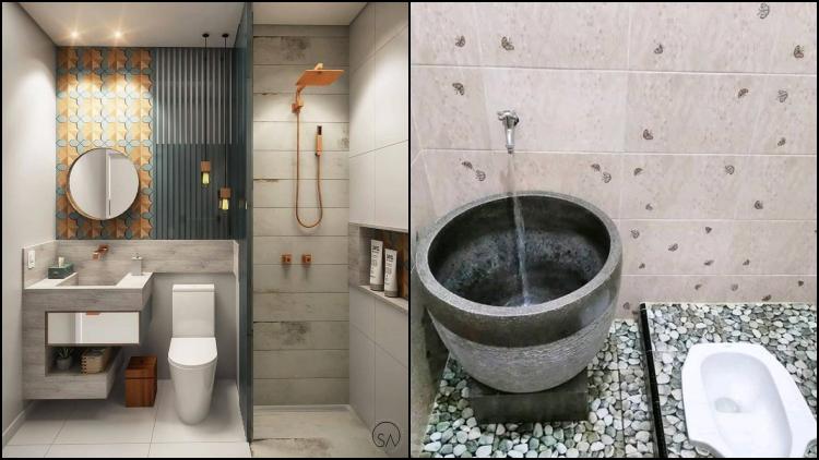 10 Desain Kamar Mandi Berbagai Ukuran Dan Corak Kamar Mandi Wc Jongkok Pun Dibuat Semarak