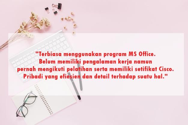 Contoh Kalimat Mempromosikan Diri Dalam Melamar Pekerjaan Untuk Fresh Graduate Pasti Lolos