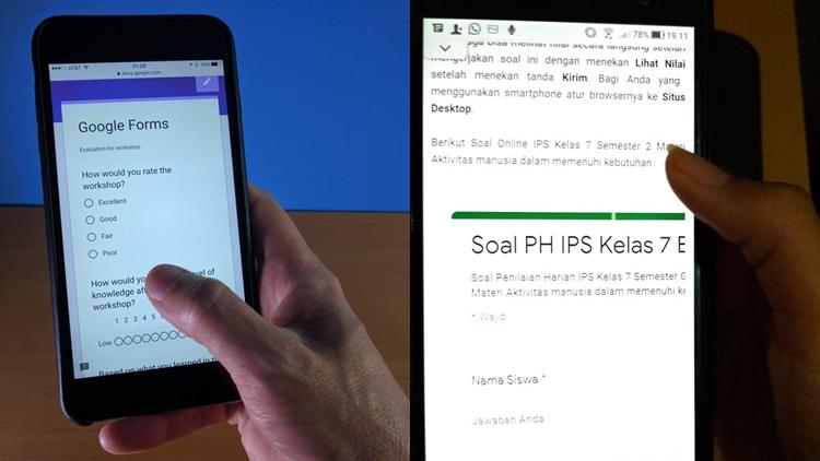 cara membuat google form di laptop