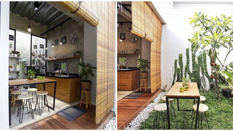 9 Desain Dapur Terbuka Di Halaman Belakang Rumah Bebas Asap Hawa Segar Dan Lega Saat Masak