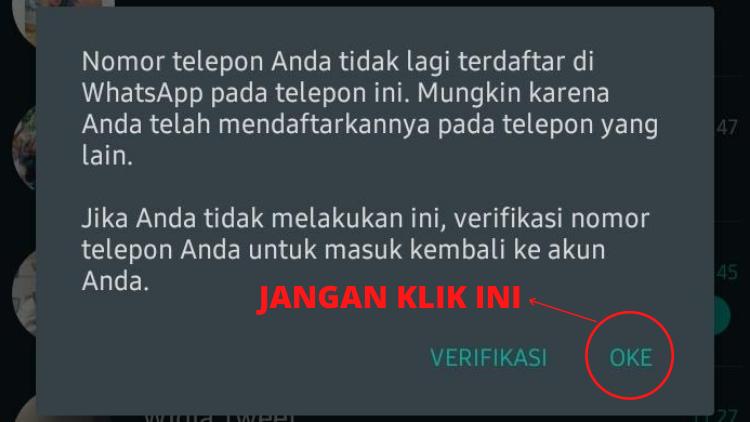 Kamu Patut Waspada Kalau Muncul Notifikasi Seperti Ini di WhatsApp. Akunmu Sedang Berusaha Dibajak Orang