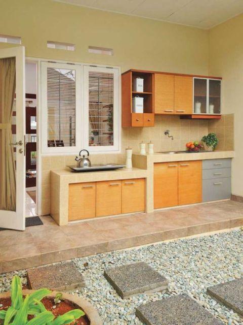 9 Desain Dapur Terbuka Di Belakang Rumah Bebas Asap Hawa Segar