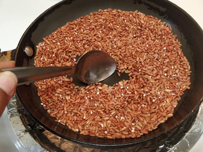 cara masak beras merah