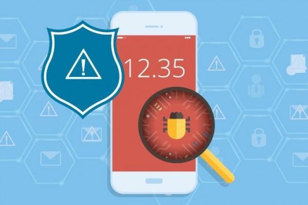 Illustrasi anti-virus smartphone