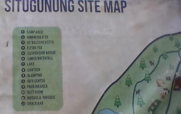 Dokumen Pribadi : Peta lokasi yang dapat dikunjungi