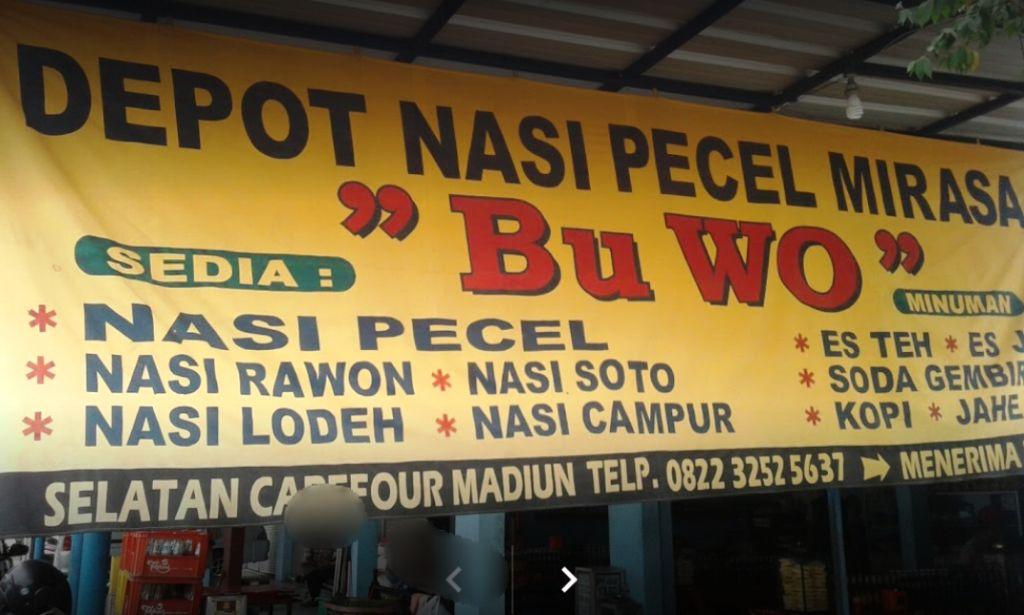 nasi pecel bu wo