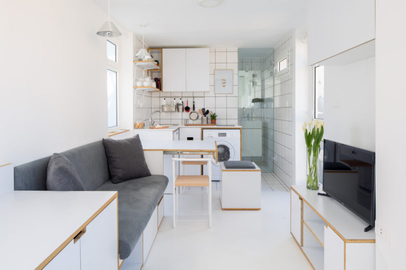 Konsep ruang apartemen yang fleksibel