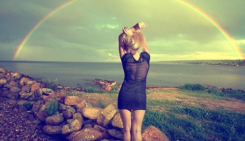 Rainbow after rain photoshoot