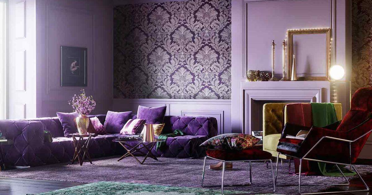 Inspirasi Perpaduan Warna Ungu Yang Super Keren Untuk Interior Rumah