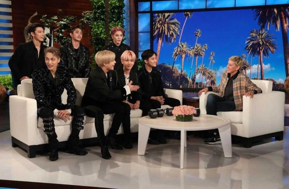 Potret SuperM di acara The Ellen Show