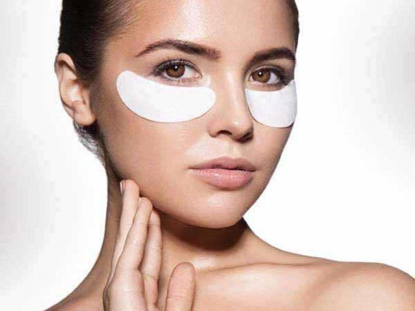 Women using eye mask