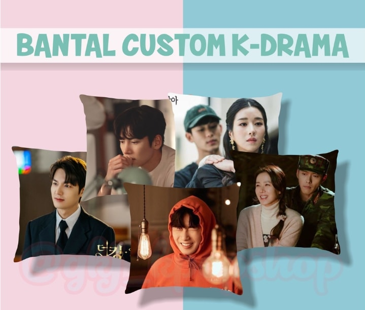 Bantal costum k-drama misalnya 😁