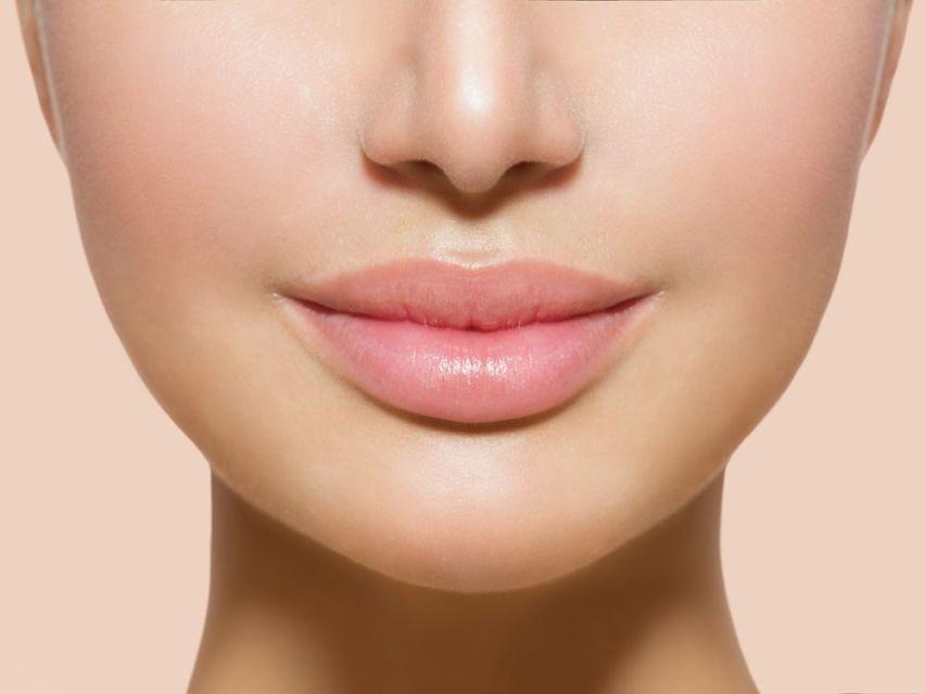 Women using lip mask