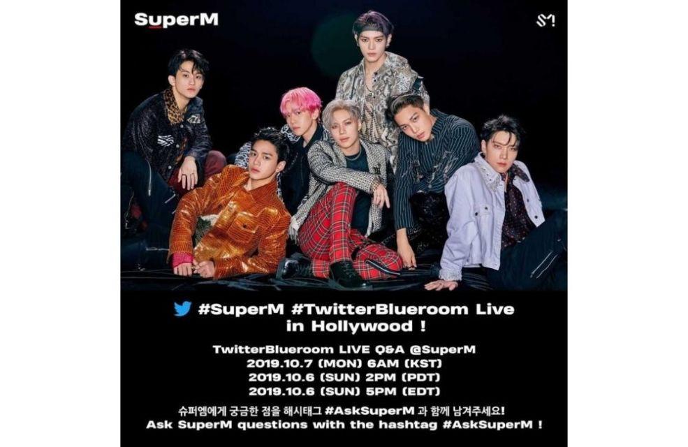 Gambar poster SuperM untuk blueroom di Twitter
