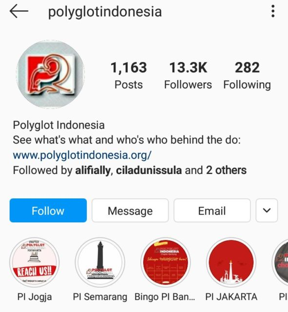 Instagram polyglot indonesia