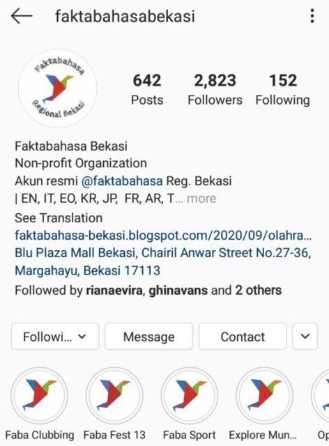 Instagram fakta bahasa bekasi