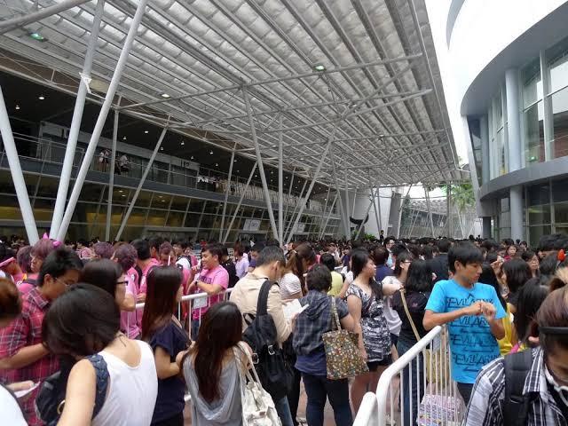 Antrian konser K-pop