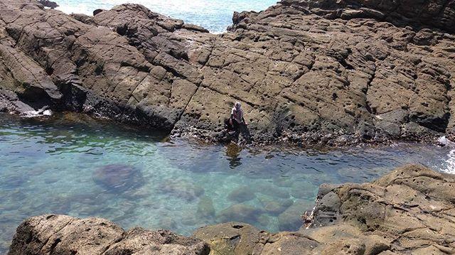 Laguna Karang di Pantai Wedi Ombo