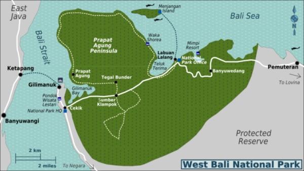 Peta Bali Barat