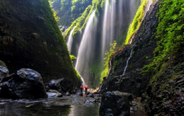 Air Terjun Madakaripura merupakan air terjun tertinggi di Pulau Jawa