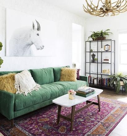 7 inspirasi nuansa serba hijau untuk interior ruang tamu