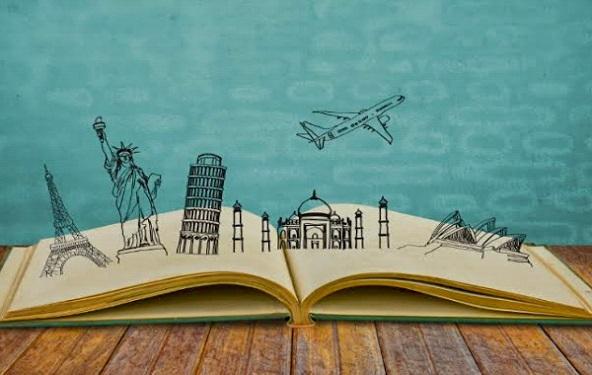 Ilustrasi buku traveling