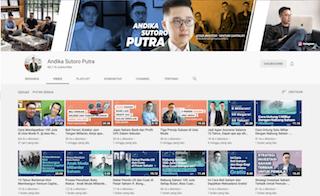 Kanal YouTube Andika Sutoro Putra