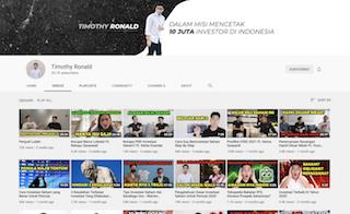 Kanal YouTube Timothy Ronald