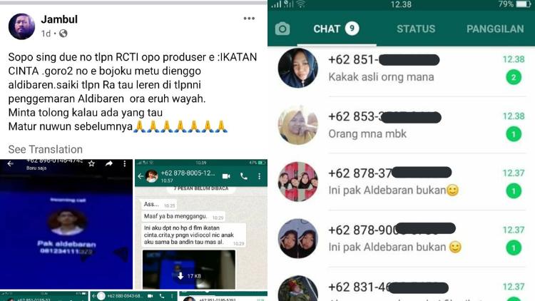 Dikira Nomor Telepon Aldebaran Warganet Ini Diserbu Chat Dari Para Fans Sinetron Ikatan Cinta D
