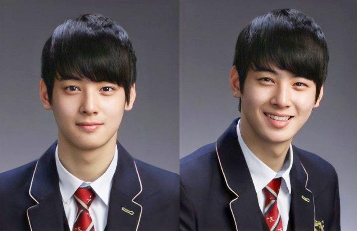 Cha Eun Woo saat duduk dibangku SMA | Photo by SBS Star