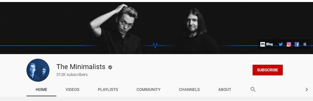 Youtube - The Minimalists