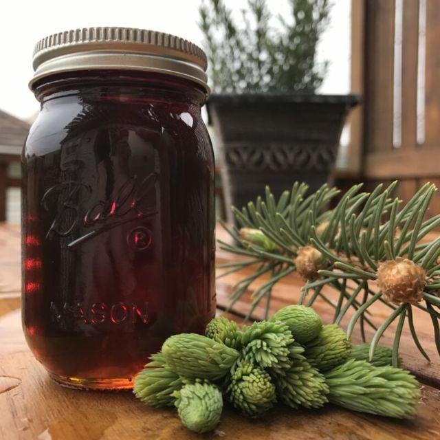 Carmelized Spruce Syrup